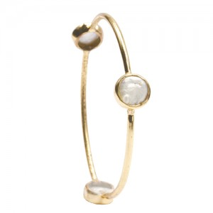 St Tropez Single Stackable Bangle White
